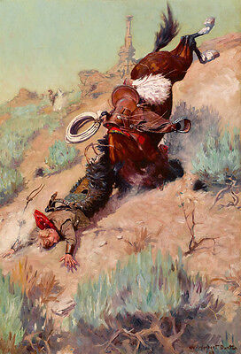 The Spill The Badger Hole by W Herbert Dunton   Giclee Canvas Print Repro