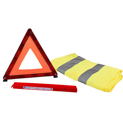 Warning Triangle Hi Vis Visibility Vest Breakdown Kit Set Car Van EU Motoring