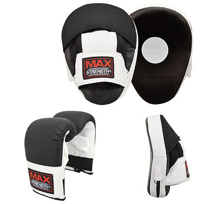 Curved Focus Pads Set Men Boxing Mitt MMA Hook and Jab Punching Gloves Muay Thai