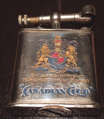 vintage  Cigarette Lighter  Canadian Club Whisky, Germany Nice used 1930's?