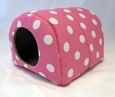 Custom made critter beds for guinea pig hedgehog 2 sizes POLKA DOTS more colors!