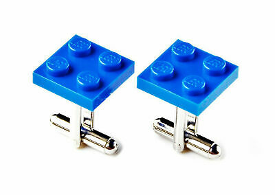 Blue LEGO (R) Cufflinks - Business Gift - Unique Presents - Handmade - Gift Box
