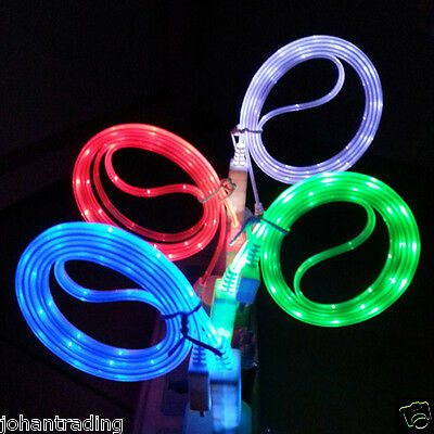 10 x Glow LED Light-up Data Sync Charger Cable For iPhone 5 5s 5c 6 Plus - Lot