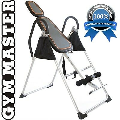Gym Master Exercise INVERSION TABLE PRO Invert Align Exercise Bench Black&Silver