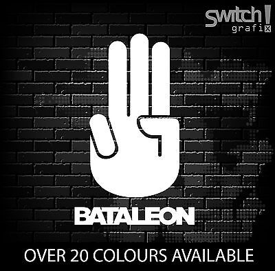 "BATALEON SALUTE Snowboard Sticker Snowboarding Decal Freestyle (6"")"