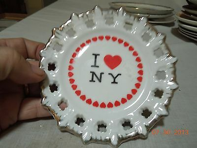 Vintage I Love NY Gold Edged Collector's Plate!