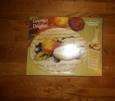NEW Gourmet Delights Ambiance Collections Cake Plate & Server*