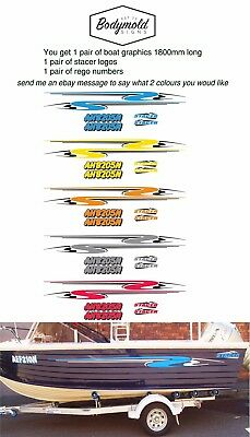 Stacer Decal Kit 1800mm long with rego numbers