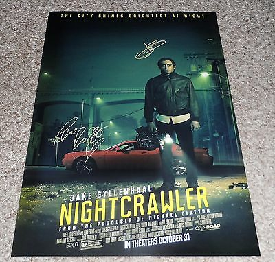 "Nightcrawler Castx2 Pp Signed Poster 12""x8"" A4 Jake Gyllenhaal Rene Russo"