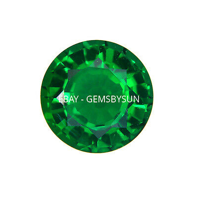 Hydrothermal Lab Created Emerald Green Round Loose stones AAA  (1.5mm to 13mm)