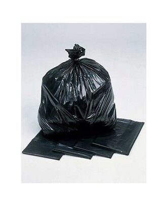 Black Dust Bin Liners Rubbish Bags Refuse Litter Clean Kitchen 200 Pack