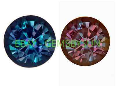 Lab Created Pulled Alexandrite True Color Change Round Loose stone (1.5 - 25mm)