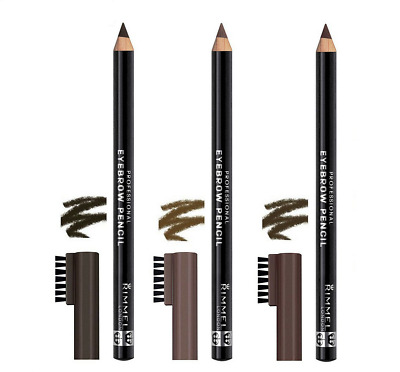 RIMMEL *Professional Eyebrow Pencil with Comb* Brow Liner & Brush ALL SHADES!