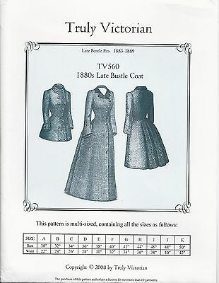 SCHNITTMUSTER TRULY VICTORIAN TV 326: 1880 Hermione Overskirt - EUR ...