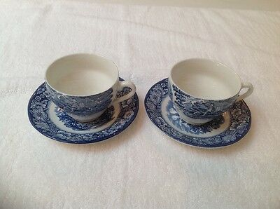Staffordshire Liberty blue cup and saucer