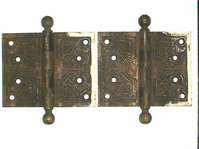 Antique Victorian Eastlake Hinges Late 1800's  5 x 4 • CAD $62.90