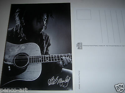 Bob Marley picture post card portrait with guitar