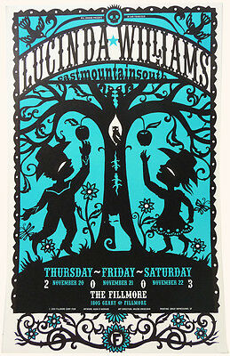 LUCINDA WILLIAMS Fillmore West Poster (Nov 20th 2003) Rock & Roll