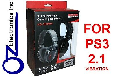 Gaming Headset for PS3 Playstation 3 game sound + chat 2.1 EXTRA BASS Stereo