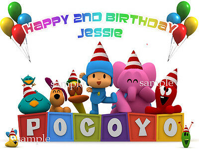 POCOYO Edible Photo CAKE Topper ICING Image Personalized FREE SHIPPING