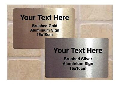 ADD TEXT TO BLANK METAL HOUSE OFFICE DOOR SIGN Silver White Gold 15x10cm or A5