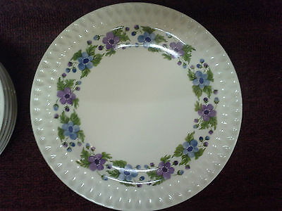 IROQUOIS CHINA  WOODALE 9  Pc. MID CENTURY MODERN BLUE PURPLE  FLOWERS