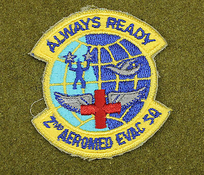 30667) Military Patch 2nd Aeromed Evac Squadron Air Force Medical Early USAF