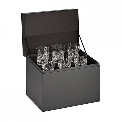 Waterford Lismore Double Old Fashioned Glasses, Deluxe Gift Box Set of 6