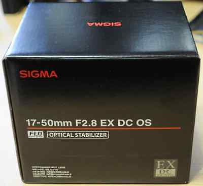 Brand-New  SIGMA 17-50mm F2.8 EX DC OS HSM Zoom Lens for Canon APS-C only