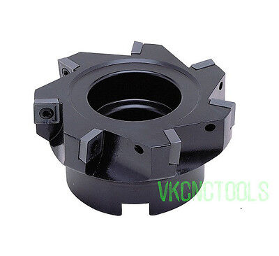 90Deg D63mm Right-angle Face Mill Cutter for SPLT1204 Square Carbide Inserts