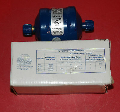 "Lot of Two New EMERSON EK-053S 3/8"" LIQUID LINE FILTER"