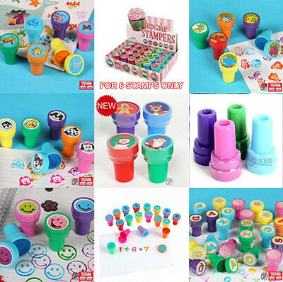 Self Inking Stamps Ink stamper Kid Educational Toy Craft Party Bag Gift 8 design