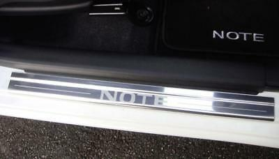 Nissan Note 2012 Onwards Mk2 4 x Chrome Door Sill Protectors Kick Plates NEW