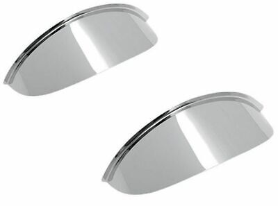 "Pair Plain Chrome Visors Peak Motorcycle Spotlight 4.5"" Spot"