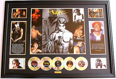 New 2 Pac Tupac Signed Oversized Limited Edition Memorabilia