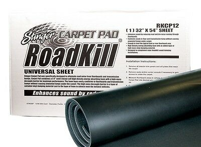"Stinger RKCP12 Roadkill Sound Deadening Car Bonnet Pad 1 pack 32"" x 54"""