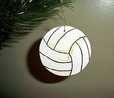 Volleyball - handpainted wooden ornament #545