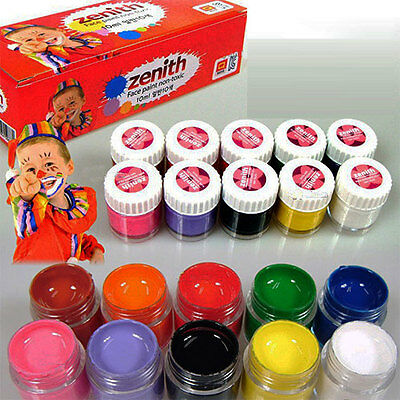 Face Body Paint Non-Toxic Ink 10ml 10 Colors Art Make Up Halloween Party Set