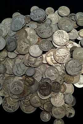 United States 90% Silver coins, $10 Face Value, Mixed lot Dimes Quarters Halfs