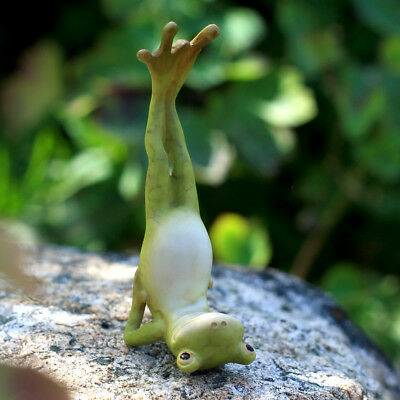 My Fairy Gardens Mini - Yoga Frog - Shoulderstand Pose - Supplies Accessories
