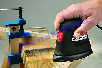 Electric Triangle Palm Hand Grip Vibrating Fine Detail Sander Corner Paint Wood