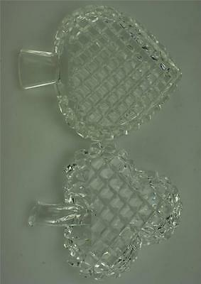 Vintage Lot of 2 Crystal Trinket or Pin Dishes (C35)