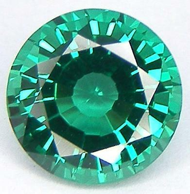 Excellent Cut Round 8 Mm. Lab Created Nanocrystal Emerald