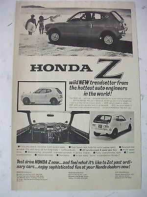 1973 Honda Z Australian Magazine Fullpage Advertisement