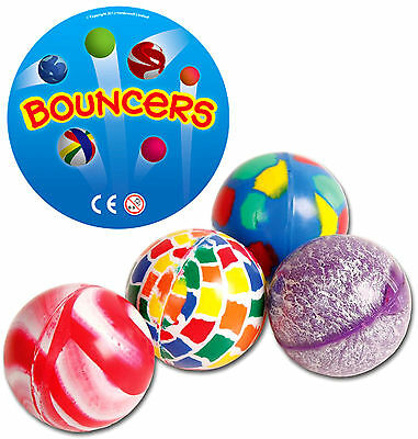 4 x BOUNCY JET BALLS TOY BOYS GIRLS CHILD GIFT PRESENT BIRTHDAY PARTY BAG FILLER