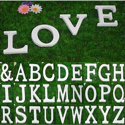 8X1.2cm thick Wooden Letter Name Alphabet Word Free Standing Wedding Party Decor