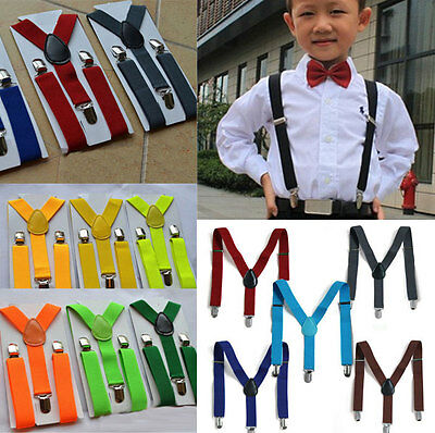 Top Kids Children Boy Girls All Match Many Colors Y-back Adjustable Suspenders