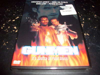 ACTION MOVIE: GUNMEN!! BRAND NEW & FACTORY SEALED!!! LAMBERT & PEEBLES!!!