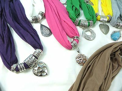 *US Seller*lot of 10 pendant necklace scarf Jewelry Scarves Wholesale