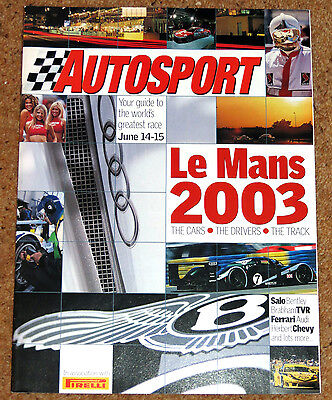 Autosport 2003 LE MANS GUIDE - David Brabham & Bentley, Mika Salo's first time